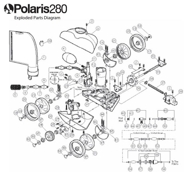 Polaris 280 Pool Cleaner | Pool Supply 4 Less