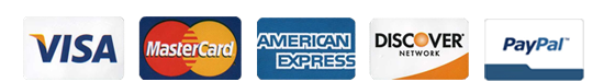 We accept these major credit card Visa, MasterCard, Discover, American Express